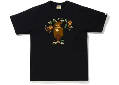 Bape ABC Camo College Milo Tee Black/Green (FW20)の写真