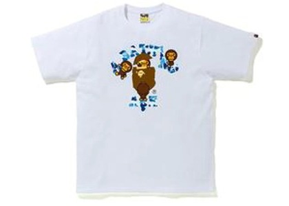 Bape ABC Camo College Milo Tee White/Blue (FW20)の写真