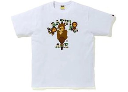 Bape ABC Camo College Milo Tee White/Green (FW20)の写真