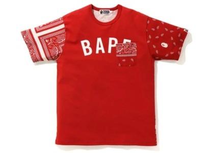 Bape Bandana Print Tee Red (FW20)の写真