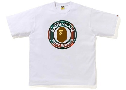 Bape Check Busy Works Relaxed Tee White/Green (FW20)の写真