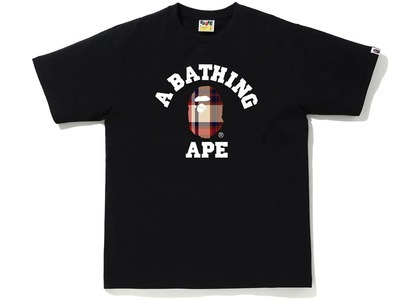 Bape Check College Tee (FW20) Black/Red (FW20)の写真