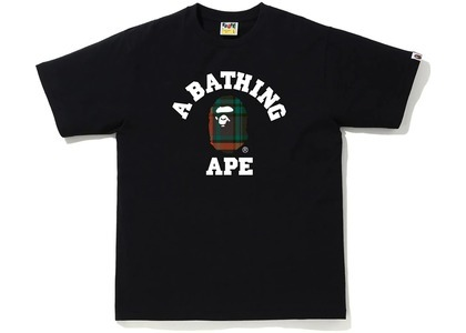 Bape Check College Tee Black/Green (FW20)の写真