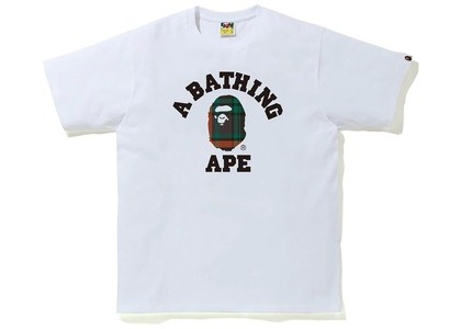 Bape Check College Tee White/Green (FW20)の写真