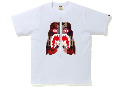 Bape Check Tiger Tee White/Red (FW20)の写真