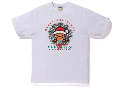 Bape Christmas Baby Milo Tee White (FW20)の写真