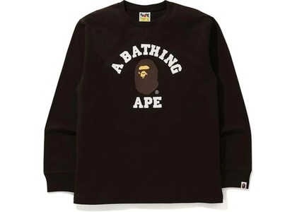 Bape College L/S Tee Brown (FW20)の写真