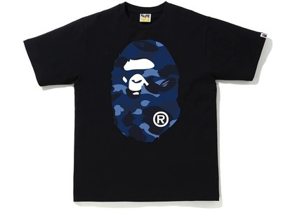 Bape Color Camo Big Ape Head Tee (FW20) Black/Navy (FW20)の写真
