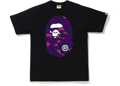Bape Color Camo Big Ape Head Tee (FW20) Black/Purple (FW20)の写真