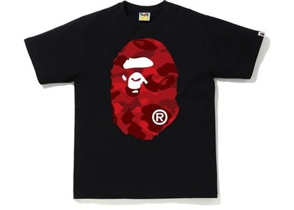 Bape Color Camo Big Ape Head Tee (FW20) Black/Red (FW20)の写真