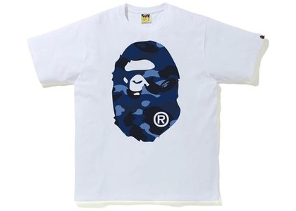 Bape Color Camo Big Ape Head Tee (FW20) White/Navy (FW20)の写真