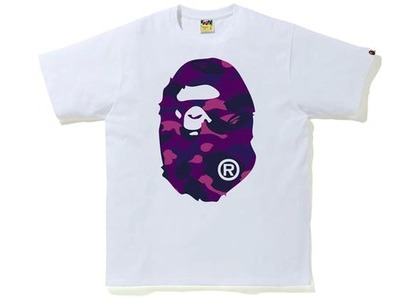 Bape Color Camo Big Ape Head Tee (FW20) White/Purple (FW20)の写真