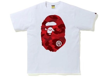 Bape Color Camo Big Ape Head Tee (FW20) White/Red (FW20)の写真