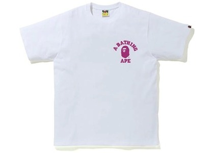Bape Color Camo College ATS Tee (FW20) White/Purple (FW20)の写真