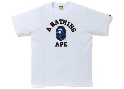 Bape Color Camo College Tee (FW20) White/Navy (FW20)の写真