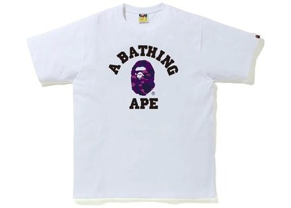 Bape Color Camo College Tee (FW20) White/Purple (FW20)の写真