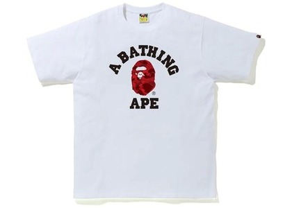 Bape Color Camo College Tee (FW20) White/Red (FW20)の写真