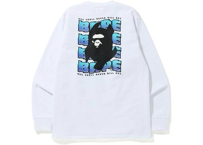 Bape Distortion L/S Tee White (FW20)の写真
