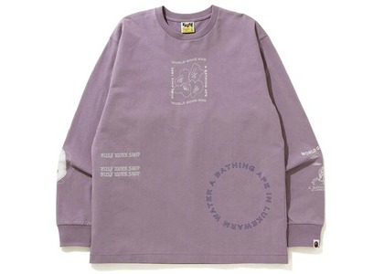 Bape Ink Print Relaxed #1 L/S Tee Purple (FW20)の写真