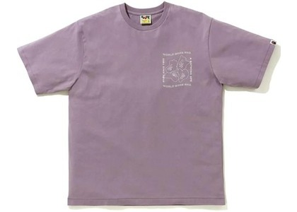 Bape Ink Print Relaxed #1 Tee Purple (FW20)の写真