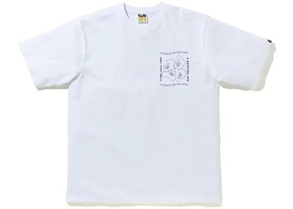 Bape Ink Print Relaxed #1 Tee White (FW20)の写真