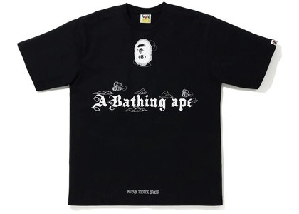 Bape Ink Print Relaxed Fit #2 Tee Black (FW20)の写真