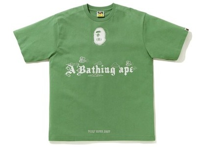 Bape Ink Print Relaxed Fit #2 Tee Green (FW20)の写真