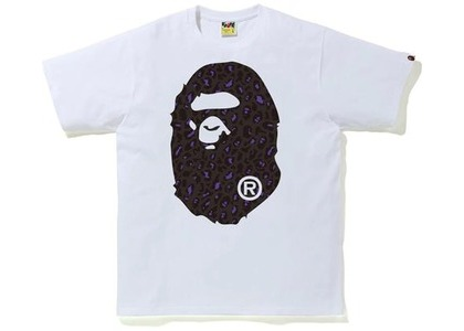 Bape Leopard Big Ape Head Tee White/Black (FW20)の写真