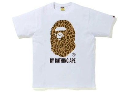 Bape Leopard By Bathing Ape Tee White/Yellow (FW20)の写真