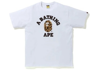Bape Leopard College Tee White/Yellow (FW20)の写真