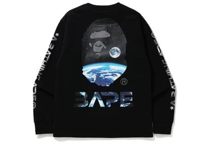 Bape Mid Autumn Festival Long Sleeve Tee Black (FW20)の写真