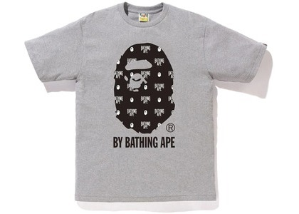 Bape Monogram by Bathing Tee Gray/Black (FW20)の写真