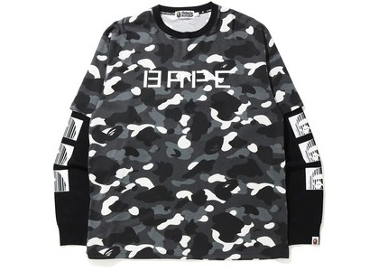 Bape Relaxed City Camo Layered L/S Tee Black (FW20)の写真