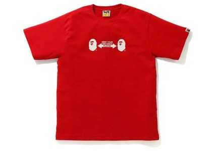 Bape SOCIAL DISTANCE Ape Head Tee Red (FW20)の写真