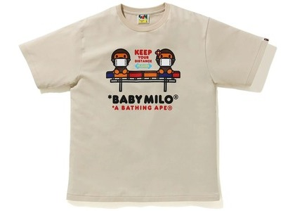 Bape Social Distance Baby Milo #2 Tee Beige (FW20)の写真