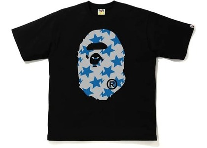 Bape STA Pattern Big Ape Head Relaxed Tee Black/Gray (FW20)の写真