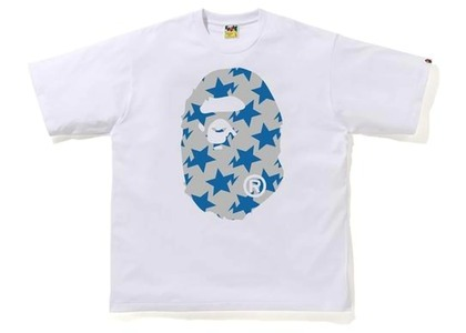 Bape STA Pattern Big Ape Head Relaxed Tee White/Gray (FW20)の写真