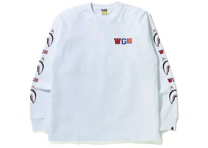 Bape WGM Shark Relaxed Fit L/S Tee White (FW20)の写真