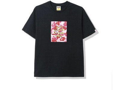 Bape x Anti Social Social Club ABC Camo Box Tee Black/Pink (FW20)の写真