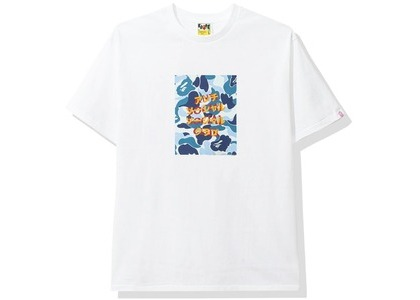 Bape x Anti Social Social Club ABC Camo Box Tee White/Blue (FW20)の写真