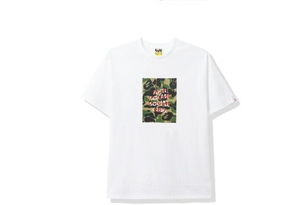 Bape x Anti Social Social Club ABC Camo Box Tee White/Green (FW20)の写真
