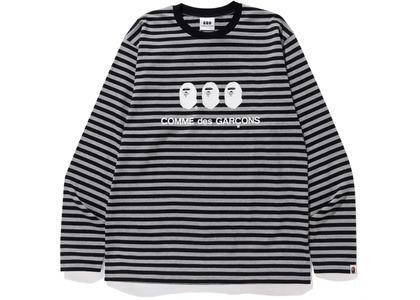 Bape x CDG Osaka L/S Tee Black/White (FW20)の写真