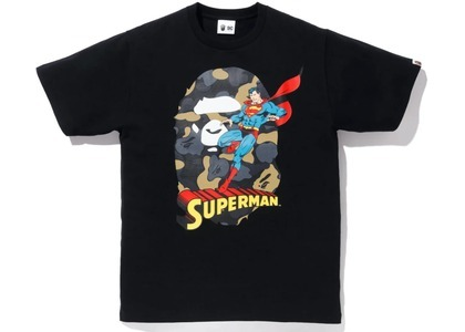 Bape x DC Ape Head Superman Tee Black (FW20)の写真