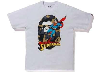 Bape x DC Ape Head Superman Tee White (FW20)の写真