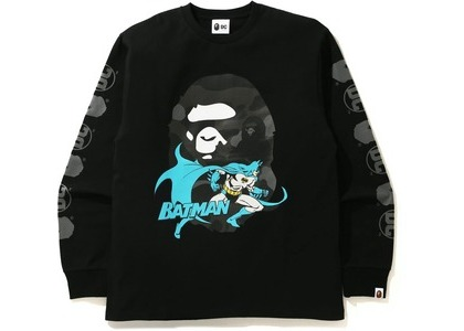 Bape x DC Batman Long Sleeve Tee Black (FW20)の写真