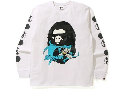 Bape x DC Batman Long Sleeve Tee White (FW20)の写真