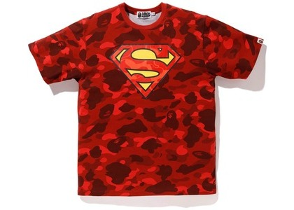 Bape x DC Superman Color Camo Tee Red (FW20)の写真