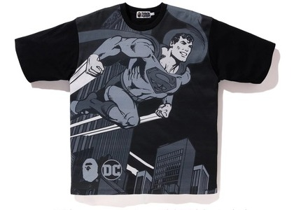 Bape x DC Superman Relaxed Tee Black (FW20)の写真