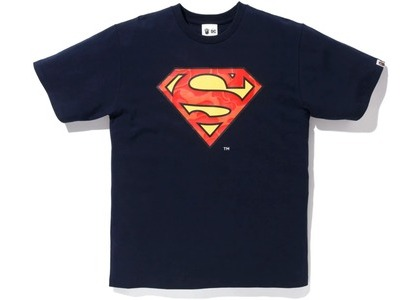 Bape x DC Superman Tee Navy (FW20)の写真