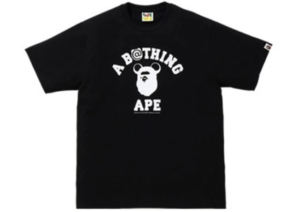 Bape x Medicom Toy College Bear Tee (FW20) Black (FW20)の写真